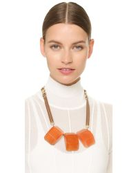 Marni Red Resin Necklace - Chili