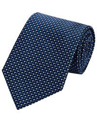 Armani - Blue Jacquard Classic Tie for Men - Lyst