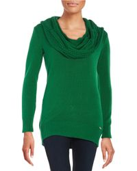MICHAEL Michael Kors | Green Knit Cowlneck Sweater | Lyst