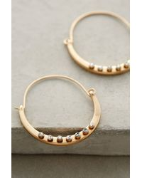 Anthropologie | Metallic Crystal-Dotted Hoops | Lyst