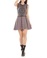 BCBGMAXAZRIA - Multicolor Anne Jacquard Fit-And-Flare Dress - Lyst