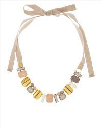 Jaeger - Natural Pastel Ribbon Necklace - Lyst