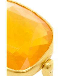 "Marie-hélène De Taillac - Orange 22K Yellow Gold And Fire Opal ""Swivel"" Ring - Lyst"