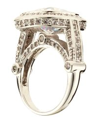 CZ by Kenneth Jay Lane | Blue Pave Bridge Ring 7 | Lyst