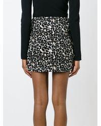 Valentine Gauthier - White Jaguar Jacquard Mini Skirt - Lyst