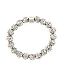 Anne Klein | Metallic Silver-plated Crystal Fireball Stretch Bracelet | Lyst