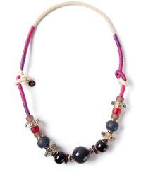 Emporio Armani - Purple Bead Necklace - Lyst
