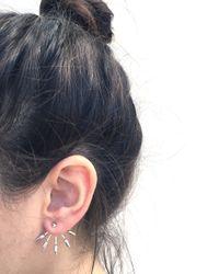 Pamela Love | Metallic 5 Spike Ear Jacket In Rose Gold | Lyst
