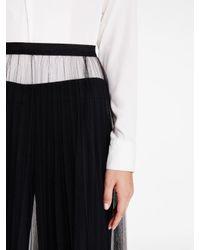 DKNY - Black Tulle Midi Skirt - Lyst