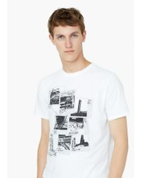 Mango - Natural Printed Image T-shirt for Men - Lyst