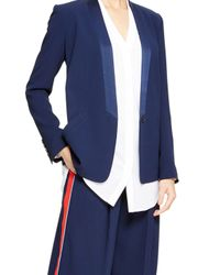 DKNY - Blue One Button Tuxedo Jacket - Lyst