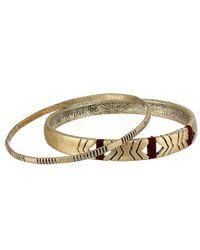 The Sak | Metallic 2 Row Link Stretch Bracelet | Lyst