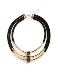 TOPSHOP | Metallic Multi-row Tube Necklace | Lyst