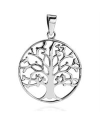 Aeravida | Metallic Steadfast Branches Tree Of Life .925 Sterling Silver Pendant | Lyst