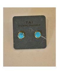 Tai | Blue Turquoise Stud | Lyst