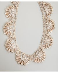 Kenneth Jay Lane | Metallic Gold Crystal Statement Necklace | Lyst