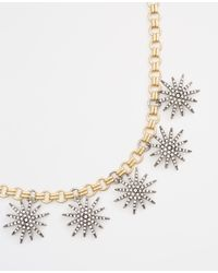 Ann Taylor | Metallic Starburst Necklace | Lyst