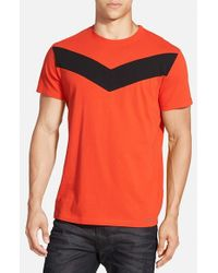 DIESEL - Red 'T-Mayurino' Chevron Stripe T-Shirt for Men - Lyst