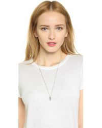 Vita Fede - Metallic Mini Mia Crystal Necklace - Silver/clear - Lyst