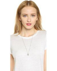 Vita Fede | Metallic Mini Mia Crystal Necklace - Silver/clear | Lyst
