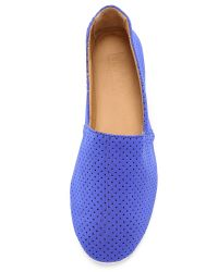 MM6 by Maison Martin Margiela | Blue Perforated Neoprene Flats - Yellow | Lyst