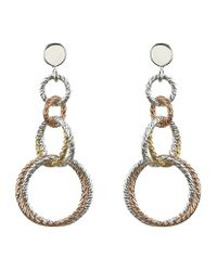 Links of London | Metallic Aurora Double Link Earrings | Lyst