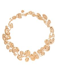 Aurelie Bidermann | Metallic Nympheas Necklace | Lyst