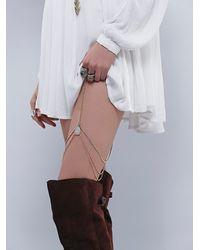 Free People | Metallic Belle Leg Chain | Lyst
