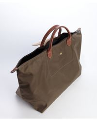 Longchamp - Brown Taupe Nylon Le Pliage Extra Large Folding Tote - Lyst