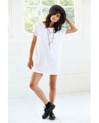 Truly Madly Deeply - White Open-Back T-Shirt Dress - Lyst
