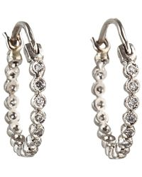 Cathy Waterman | Metallic Women's Circle Hoops | Lyst