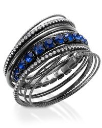 INC International Concepts | Metallic Hematite-tone Blue Stone Bangle Bracelet Set | Lyst