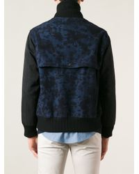 Soulland - Blue Camouflage Varsity Jacket for Men - Lyst