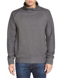 BOSS Orange | Gray 'wawy' Funnel Neck Terry Knit Sweatshirt for Men | Lyst