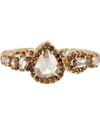 Sharon Khazzam - Metallic Women's Brown-diamond Ring - Lyst