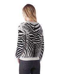 DIESEL | Multicolor Zebra Cotton Blend Jacquard Sweater | Lyst
