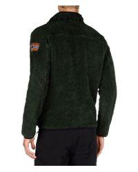 Napapijri | Green Zip Fleece for Men | Lyst