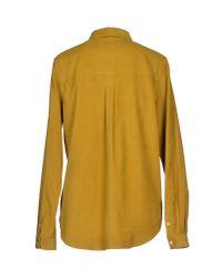 YMC - Yellow Shirt - Lyst