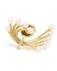 Yvonne Léon | Metallic Diamond And Pearl Bouquet Earring | Lyst