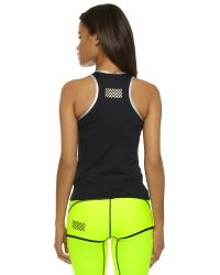 Monreal London | Racer Back Tank Top - Black E | Lyst