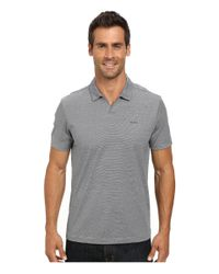 Calvin Klein | Black End On End Stripe Polo for Men | Lyst