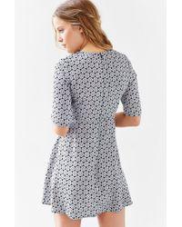 Glamorous - White 3/4 Sleeve Woven Swing Dress - Lyst