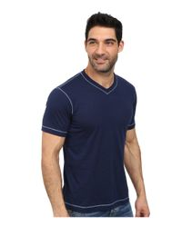 Robert Graham | Blue Battleship Short Sleeve Knit T-shirt for Men | Lyst