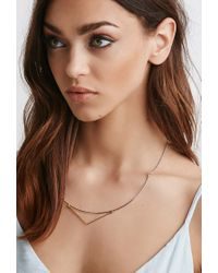 Forever 21 - Metallic Luna Norte Fay Collar Necklace - Lyst