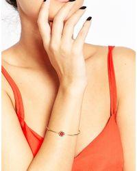 Ted Baker   Metallic Enamel Button Ultra Fine Cuff Bracelet   Lyst
