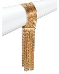Chloé | Metallic Delfine Fringe Chain Cuff Bracelet | Lyst