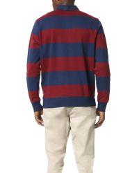 Obey | Blue Edinburgh Rugby Fleece Shirt for Men | Lyst