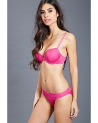 Forever 21 - Purple Lace-trimmed Push-up Bra - Lyst