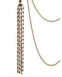 Rosantica By Michela Panero | Metallic Aspide Three Layers Brass Chain Necklace | Lyst
