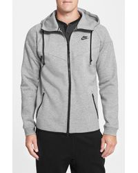 Nike | Gray Water Repellent Tech Fleece Windrunner Jacket for Men | Lyst